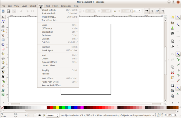 No Icons in Inkscape Menus Fix – Ubuntu GNOME 16.04 (64bit)