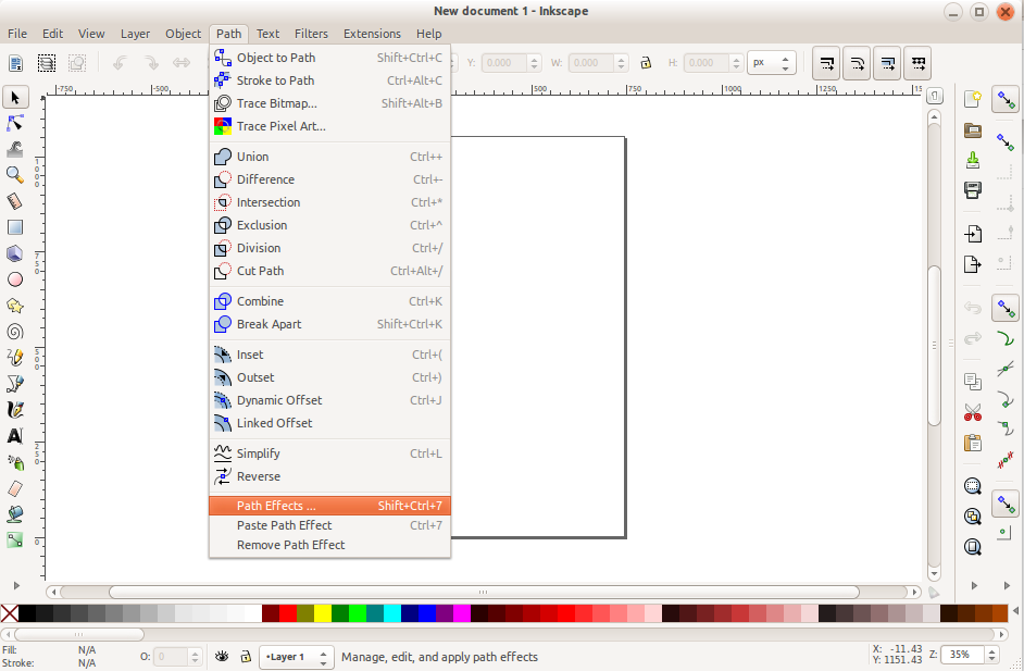 Inkscape with Menu Icons