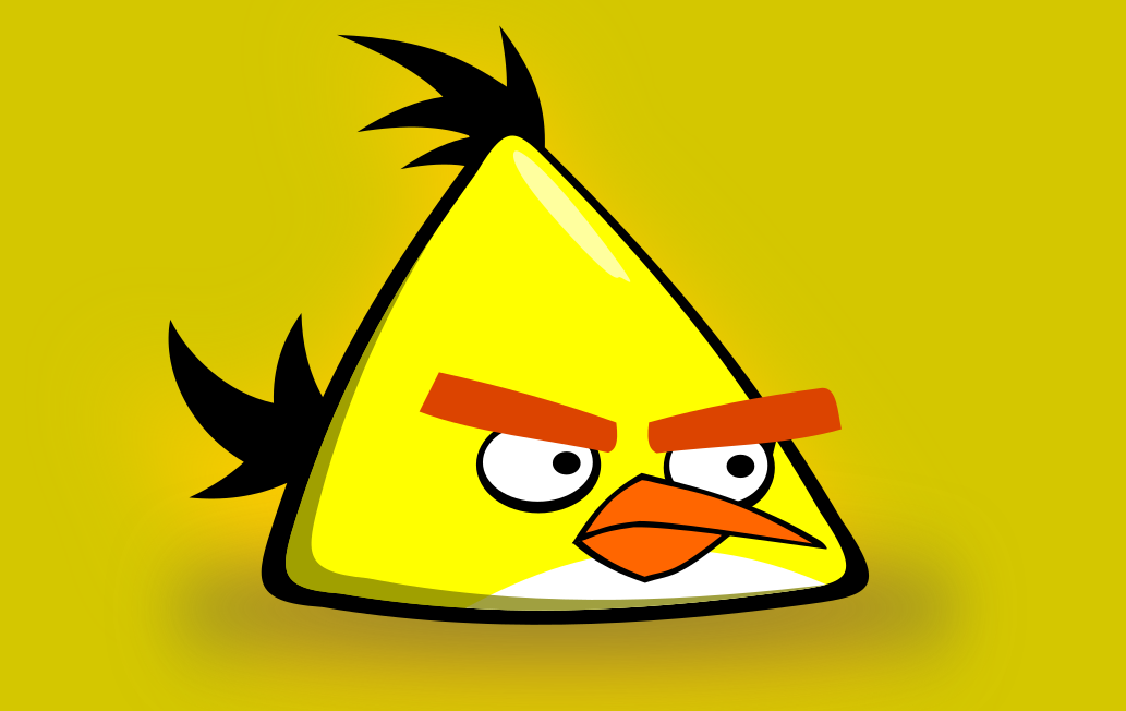 Inkscape – Yellow Angry Bird