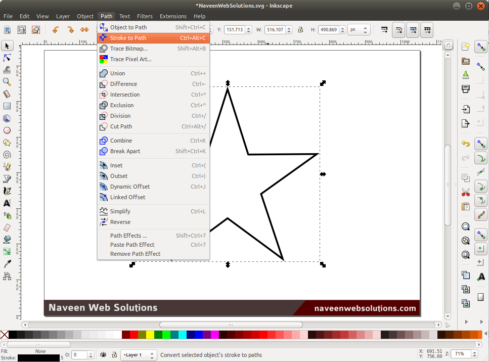 Star Pyramid Inkscape